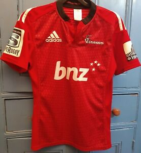 Super Rugby CRUSADERS BNZ Adidas Rugby Shirt - small