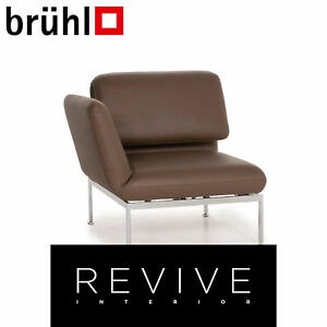Brühl & Sippold Roro Leder Sessel Braun Liege Funktion Relaxfunktion