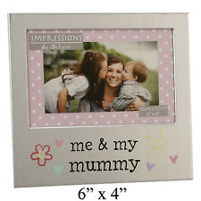 Me and my Mummy Mothers Day Birthday Gift Idea Brushed Silver Photo Frame