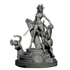 1/32 Resin Figure Model Kits Curse Princess Queen Soldier Medusa Unpainted