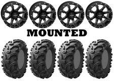 Kit 4 Kenda Bearclaw K299 26x9-12/26x11-12 on Quadboss Grinder Matte Black TER
