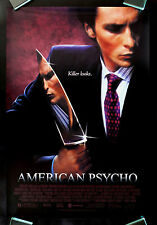 AMERICAN PSYCHO * CineMasterpieces ORIGINAL 1SH NM-M MOVIE POSTER KNIFE 2000