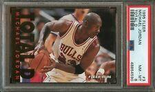 1995 Fleer MICHAEL JORDAN Basketball Card TOTAL D Insert #3 PSA 8 Nm-Mt