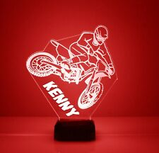 Dirt Bike Personalized LED 16 Color Changing Night Light w/remote Sports Bike