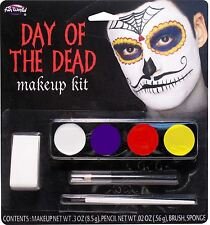 Day Of The Dead Make Up Kit (Male), Face Paint, Halloween Fancy Dress #US