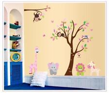 Wandtattoo Wandsticker Wandaufkleber Dschungeltiere Kinderzimmer 220 x 140 YD001
