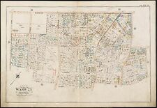 1896 ROSLINDALE, BOSTON, MA. CATHOLIC CHURCH OF THE SACRED HEART, COPY ATLAS MAP