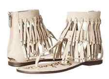 a16095652824 Sam Edelman Griffen Modern Ivory Leather Fringe Sandal womens 6-10  NEW!