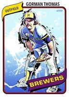 Gorman Thomas All Eras Sports 1980 Custom Card