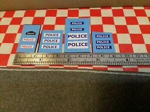 Matchbox Hot Wheels Corgi Dinky Assorted POLICE Set of Stickers,