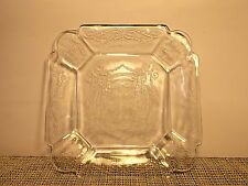 Vintage Indiana Depression Glass Lorain (Basket) Clear Pattern Salad Plate 7 3/4