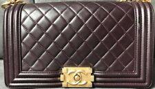 GENUINE AUTHENTIC Chanel Le Boy Bag Old Medium Deep Purple