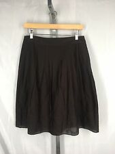 Talbots Petites Brown Pleated Skirt Size 10P 10 Petite New
