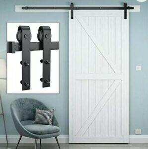 "Genius Iron 6.6' Barn Door Hardware Kit, Upgraded Bearings for 36"" - 40"" Basic J"