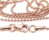Rose Gold PVD Ball Chain Hypoallergenic Surgical Steel