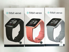Fitbit Versa Smartwatch Fitness Activity Tracker Black Gold Silver Sealed Box