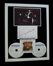 LUCIANO PAVAROTTI+SIGNED+FRAMED+NESSUM+AVE MARIA=100% GENUINE+FAST GLOBAL SHIP