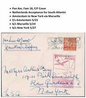 Transatlantic First Flight Cover Amsterdam Netherlands to New York 1939 PanAm