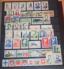FRANCE ANNEE COMPLETE 1958, N° 1142/1188 Neufs**. Cote 63 €