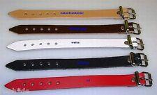 50 weisse Lederriemen 1,4 x 24,0 cm lang Schnallenriemen Kinderwagen Band LWPH
