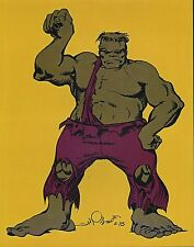 INCREDIBLE HULK PIN UP POSTER 70's Style Art MARVEL Walt Simonson