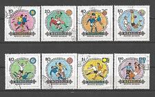 Football Mongolie (23) série complète 8 timbres oblitérés
