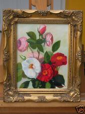 Rose 3, Flower, Original Oil Painting, Signed, Framed, Wall Art, Home Deco, 8x10