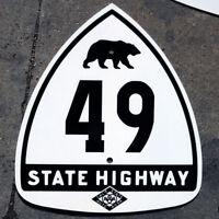 California CSAA bear route 49 highway road sign auto club AAA gold rush
