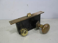 Vintage Sargent Brass Door Knob & Lock Set