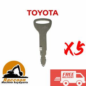 5pcs TOYOTA FORKLIFT KEY ref A62597 57591-23330-71 TOYNEW Traigo Tonero Onwards