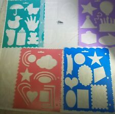 Lot of 5 Pioneer Photo Albums Scrapbook Template Stencils- Baby Birthday Shapes