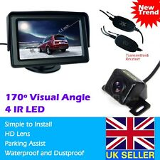 "Wireless Car Rear View Kit 4.3"" LCD Monitor +HD IR Night Vision Reversing Camera"
