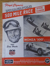 Floyd Clymer Indianpolis 500 Yearbook 1957 includes Monza 500