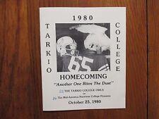 1980  Tarkio  College  Football  Program (44  Signed/JOHN   VICKERS/JOE  RIZZO)