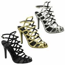 Anne Michelle Buckle Strappy, Ankle Straps Heels for Women