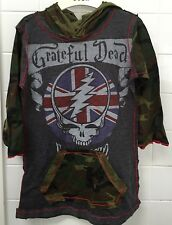 Girls Kaos Size 4 Grey Camo Grateful Dead Rock N Roll Tunic Dress New BNWT