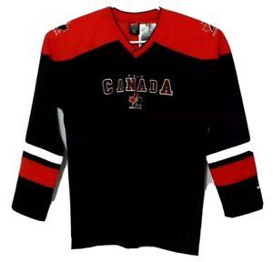 Nike Hockey Team Canada Black Hockey Sweater Jersey boys Size XL (20) Nwt