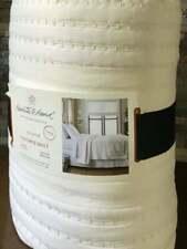Hearth & Hand Magnolia Ivory Cream Textured Twin Quilt Stripe Farmhouse NEW