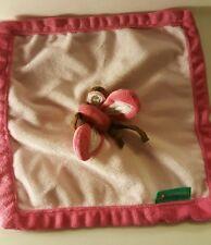 Tiddliwinks Pink Butterfly Plush Lovie Lovey Security Blanket Soft Fleece