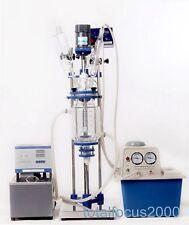 5L Chemical lab Jacketed Glass Reactor Vessel 110V or 220V digital display