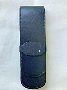 Montblanc DOUBLE  Leather Pen Case Pouch Pre-Owned  AUTHENTICITY GUARANTEED