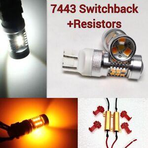 Brake Light T20 7443 7444 21W/5W Amber White Switchback LED K1 For HAK