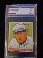 1933 GOUDEY #180 EDDIE MOORE ** PSA 5 EX * Check out my other listings!