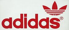 Vintage 70s Red Adidas Trefoil Logo Iron On Transfer Quaker Licensed!