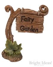 Vivid Arts MINIATURE WORLD FAIRY GARDEN HOME ACCESSORIES Large Fairy Garden Sign