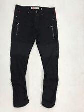Iro Ochi Black Premium Denim Red Stretch Panel Mens Size 32 Nice New Rare 1 Of 1