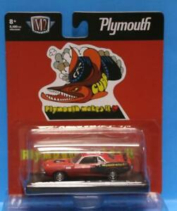 M2 MACHINES Auto-Drivers R73 1971 Plymouth HEMI Barracuda Rallye Red with Black