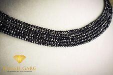 Schwarzer Spinell Strang fac ca. 2 mm AAA Diamant-Ersatz 5er Set je 40 cm SP-002