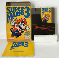 Super Mario (Left) Bros 3 - Complete in Box CIB - NES Nintendo - Tested