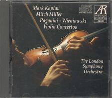 PAGANINI - Violin Concerto 1 / WIENIAWSKI - Violin Concerto 2 - Mark KAPLAN